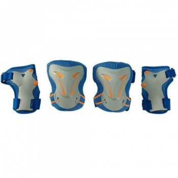 Набор защиты Tech Team Safety line 400, цвет синий (размеры S, M, L)