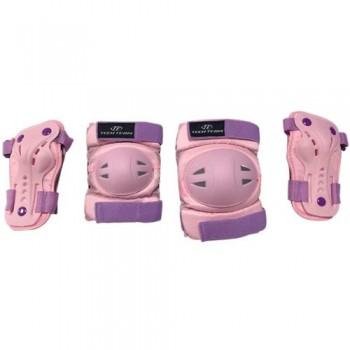 Набор защиты Tech Team Safety line 500, цвет розовый (размеры S, M)